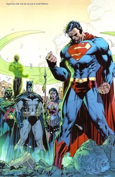 Superman and Justice League by Jim Lee