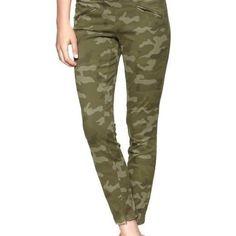 New Gap Super Skinny Camo Chino Twill Pants Camoflage Size 29 8 Petite Womens | eBay