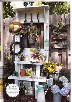 Flea Market Gardens magazine page 115 - Issue Spring/Summer 2013 - great idea for creating a garden door