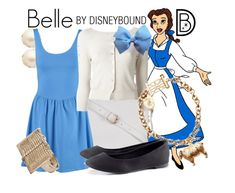 """""""Belle"""" by leslieakay ❤ liked on Polyvore featuring Disney, Kate Spade, Atmos&Here, New Look, Pinko, Joules and H&M"""