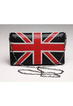 Union Jack clutch in black. Sooo want this!