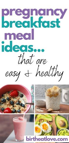 Pregnancy breakfast recipes for better mornings. These breakfast ideas are full of foods that can help you eat a healthy pregnancy diet so that you get the vital nutrients you need to grow a healthy baby. Some great pregnancy tips on how to start your day off right to help keep blood sugar balanced and for more energy. Good breakfast for first trimester of pregnancy and to eat when having morning sickness. #pregnancyfood #healthypregnancydiet #pregnancynutrition #pregnancytips #birtheatlove Healthy Pregnancy Food, Pregnancy Nutrition, Pregnancy Tips, Best Breakfast, Breakfast Ideas, Breakfast Recipes, Good Foods To Eat, Foods To Avoid, Pregnancy Breakfast