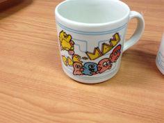 3 Vintage Grindley England Pac-Man Coffee Mugs