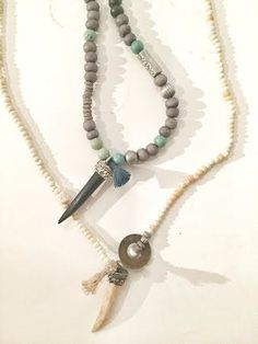 Image of GREY and Mint Necklace