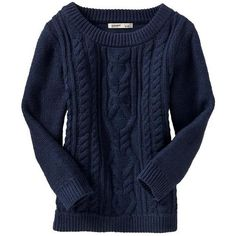 Old Navy Womens Cropped Cableknit Sweaters ($13) ❤ liked on Polyvore featuring tops, sweaters, shirts, long sleeves, women, long sleeve shirts, knit sweater, long-sleeve crop tops, blue long sleeve shirt and long sleeve crop top