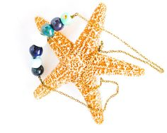 Kazuri Bead Blue Necklace - Fair Trade African Necklace - Bronze Chain Teal Necklace - Bronze Necklace - African Jewelry - Ethical Jewelry thecoastaldesert The Coastal Desert handmade jewellery jewelry