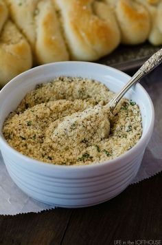 This easy seasoning is the best! I put it on french bread, breadsticks and even chicken!