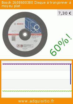 Bosch 2608600380 Disque à tronçonner à moyeu plat (Outils et accessoires). Réduction de 60%! Prix actuel 7,30 €, l'ancien prix était de 18,45 €. https://www.adquisitio.fr/bosch/2608600380-disque