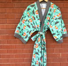 Plus Size Comfy Womens Flannel Robe - Bath Robe - Kimono Robe - Knee Length - Choose Your Fabric