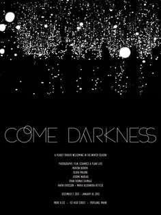 COME DARKNESS - Collaboration between More & Co and Marion Berrin