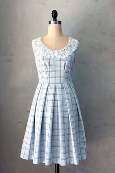 Autumn Dress in Lattice Blue reminds me of way back in the day....I think I could make this for a lot less than what they are asking for including my own hand made lace collar. Gonna look up vintage patterns and see what I can come up with. . . love this style so much!