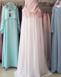 Muslim Wedding Dresses, Muslim Dress, Wedding Abaya, Hijab Gown, Hijab Style Dress, Abaya Fashion, Fashion Dresses, Moslem Fashion, Dress Pesta