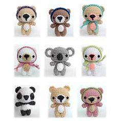 Cutie Bears amigurumi crochet pattern by AmiAmore