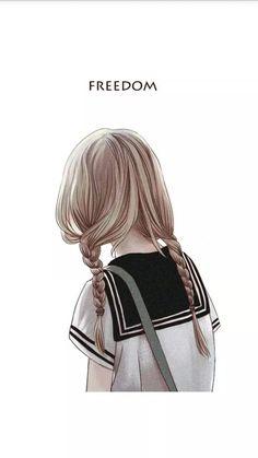 动漫,二次元,少女,唯美,手绘,背影,壁纸,头像,封面~ (≧▽≦)/~