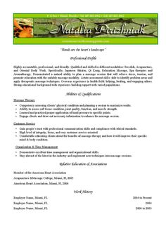 pediatric occupational therapist resume
