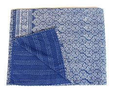Persevering Indian Handblock Kantha Quilt Indian Cotton Bedspread Queen Size Bedsheet Boho Beautiful And Charming Quilts, Bedspreads & Coverlets
