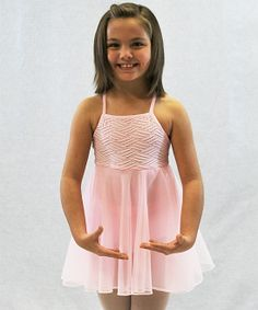 Pink Weave Skirted Leotard - Girls | Daily deals for moms, babies and kids