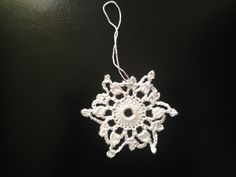 How to crochet Christmas decoration - a snowflake Motif 2