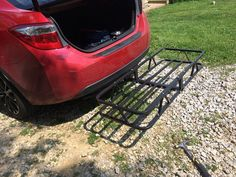 "17x46 Curt Cargo Carrier for 1-1/4"" and 2"" Hitches - Steel - 500 lbs Curt Hitch Cargo Carrier C18145"