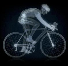 Bike and rider X-ray