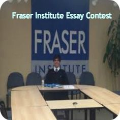 2015 Fraser Institute Essay Contest for Canadian and Foreign Students in Canada, and applications are submitted till June Fraser Institute invites applications for essay contest available for Canadian and foreign students, studying in Canada or abroad. Essay Competition, Career College, Essay Contests, Career Choices, Student Work, Studying, Invites, Education, Students