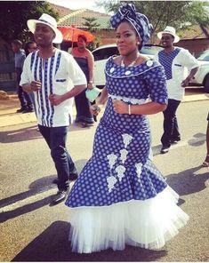 traditional shweshwe dresses 2017 African Traditional - style you 7 South African Traditional Dresses, Traditional Dresses Designs, Traditional Wedding Dresses, Traditional Outfits, Venda Traditional Attire, Traditional Weddings, African Wedding Attire, African Attire, African Wear