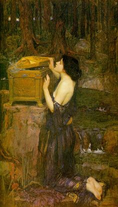 John William Waterhouse- Pandora, love Pre-Raphaelite art!
