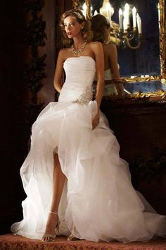 #wedding #dress with a slit! -- I don't think I could ever pull this off but it's neat!