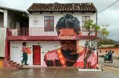 By Jade - Chiapas, Mexico Best Graffiti, Graffiti Art, Urban Street Art, Urban Art, Wall Writing, Jade, Amazing Street Art, Public Art, Yorkie