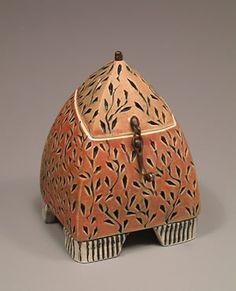Julie Olson - Rectangular Hinged Box | Julie Olson is a Piedmont Crafstmen exhibiting member in clay : http://piedmontcraftsmen.org/artist/julie-olson/