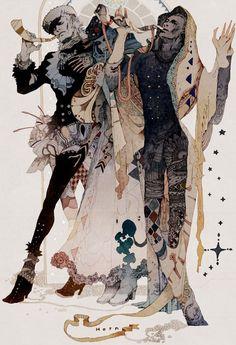 A Arte de Akiya Kageichi - Design Innova Art And Illustration, Illustrations And Posters, Character Illustration, Kunst Inspo, Art Inspo, Fantasy Kunst, Fantasy Art, Kunst Online, Arte Horror