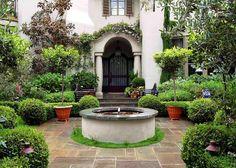/\ I love this! /\ Mediterranean Garden Style Front Fountain