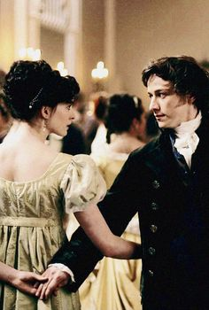 "Anne Hathaway as Jane Austen in the 2007 film ""Becoming Jane. Becoming Jane, Period Movies, Period Dramas, Jane Eyre, Tracy Chevalier, Little Dorrit, Jane Austen Movies, Cinema, James Mcavoy"