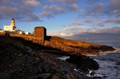 Kinnaird Head lighthouse and the Wine Tower, Fraserburgh, Scotland by iancowe, via Flickr