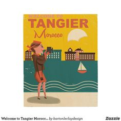 Welcome to Tangier Morocco vintage travel poster