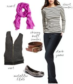I have all of this but the striped shirt...wonder if I could pull it off?
