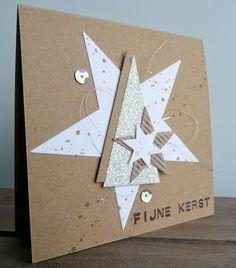 BloGbloM: X-mas 2014 (6) Homemade Christmas Cards, Stampin Up Christmas, Christmas Greeting Cards, Homemade Cards, Handmade Christmas, Holiday Cards, Christmas Crafts, Stampin Up Weihnachten, Star Cards