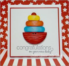Stampin' Up! Baby Card by Nikki S at my sandbox: Cute & Colourful Baby!