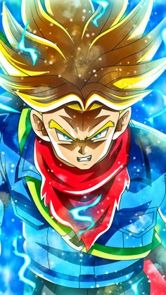 Why is Super Saiyan Trunks So Strong in Dragon Ball Super? Int his fan teory we will breakdown how Future Trunks got so strong in Dragon Ball Super. Dragon Ball Gt, Trunks Super Saiyan, Broly Super Saiyan 4, Super Trunks, 1440x2560 Wallpaper, Trunks Dbz, Naruto, Otaku, Anime Art
