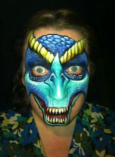 Dragon by Nick Wolfe. Nick Wolfe is teaching workshops in Australia in November 2014 with the Face Painting School! Visit www.facepaintingschool.com.au for details and how to reserve your seat. Sydney, Perth, Adelaide and Cairns. Limited seats. Act quick.