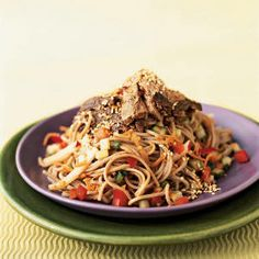 300-Calorie Dinners | Soba Noodle Salad with Seared Tuna | CookingLight.com
