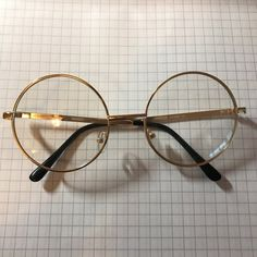 097400e235 Super cute real vintage gold round glasses. (Clear lenses!) Brand new with
