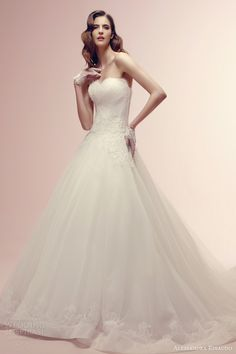 alessandra rinaudo bridal collection 2014 rebecca wedding dress strapless lace