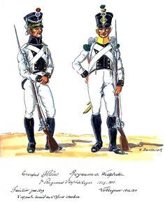 Westphalia; 7th Line Infantry, Fusilier 1809 & Voltigeur 1810-11