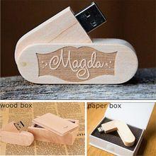 Customized Logo Natural Wood USB Stick 2.0 Flash Drive Promotion USB Gift Box#customusb #usbgift #usb