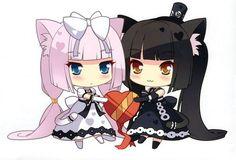 Image de anime, black, and cat