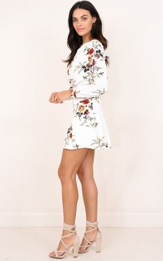 768f5f569799 Fresh Fields dress in white floral Produced By SHOWPO