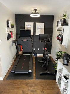 Workout Room Home, Gym Room At Home, Workout Rooms, Small Home Gyms, Peloton Bike, Basement Gym, Home Gym Design, Babe Cave, Game Room