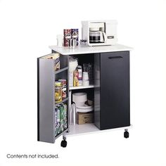A standout refreshment center! Mobility, storage and more.on-the-door storage and large cabinet interior with an adjustable shelf make this refreshment stand an asset in any office. Large melamine top can hold a microwave or other break room equipment. Door Storage, Storage Cabinets, Storage Shelves, Locker Storage, Shelf, Door Shelves, Dining Furniture, Office Furniture, Furniture Online