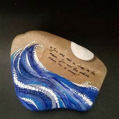 "painted rock. ""You are not a drop in the ocean. You are the entire ocean in a drop."""